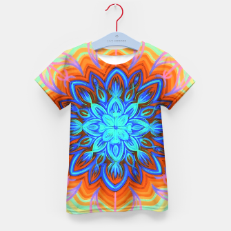 Thumbnail image of Brite Blue Blossom Kid's T-shirt, Live Heroes