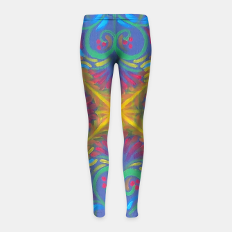 Thumbnail image of Deep Strokes Girl's Leggings, Live Heroes