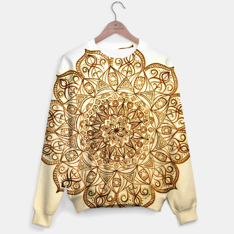 Thumbnail image of Black on White visionary mandala Sweater, Live Heroes
