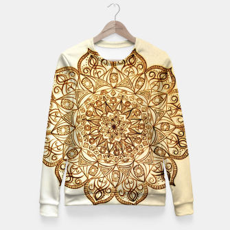 Thumbnail image of Black on White visionary mandala Fitted Waist Sweater, Live Heroes