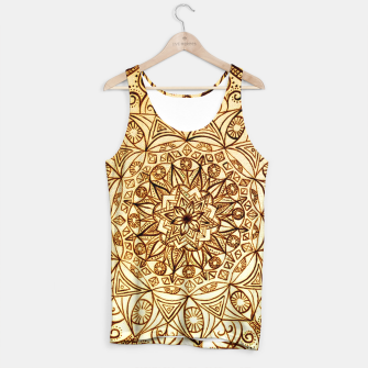 Thumbnail image of Black on White visionary mandala Tank Top, Live Heroes