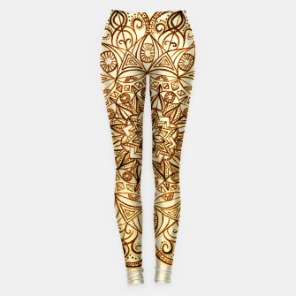 Thumbnail image of Black on White visionary mandala Leggings, Live Heroes