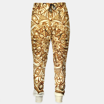 Thumbnail image of Black on White visionary mandala Sweatpants, Live Heroes