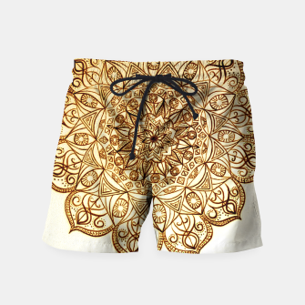 Thumbnail image of Black on White visionary mandala Swim Shorts, Live Heroes