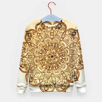 Thumbnail image of Black on White visionary mandala Kid's Sweater, Live Heroes