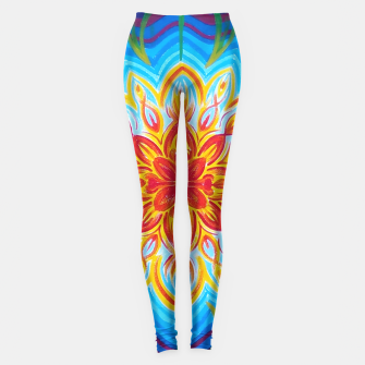 Thumbnail image of Sun flowers mandala  Leggings, Live Heroes