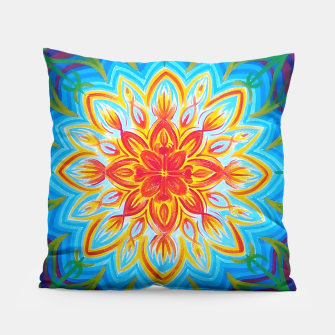 Thumbnail image of Sun flowers mandala  Pillow, Live Heroes