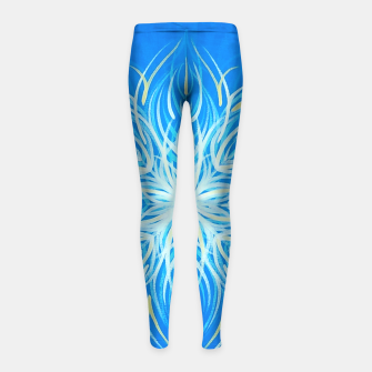 Thumbnail image of Sun Mandala Girl's Leggings, Live Heroes