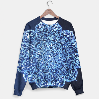 Thumbnail image of White on Black Visionary Mandala Sweater, Live Heroes