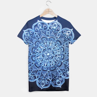 Thumbnail image of White on Black Visionary Mandala T-shirt, Live Heroes