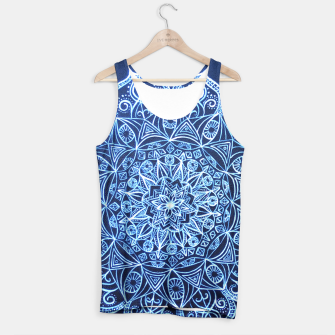 Thumbnail image of White on Black Visionary Mandala Tank Top, Live Heroes