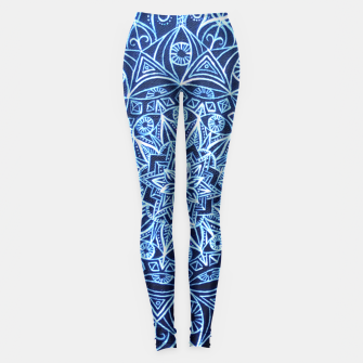 Thumbnail image of White on Black Visionary Mandala Leggings, Live Heroes