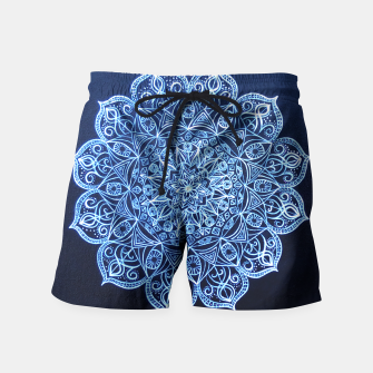 Thumbnail image of White on Black Visionary Mandala Swim Shorts, Live Heroes