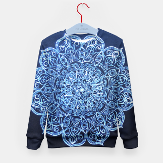 Thumbnail image of White on Black Visionary Mandala Kid's Sweater, Live Heroes