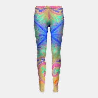 Thumbnail image of Creamsicle  Girl's Leggings, Live Heroes
