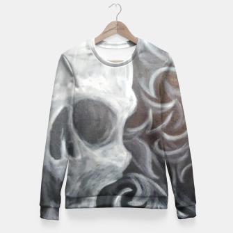 Thumbnail image of Skull with filigree Fitted Waist Sweater, Live Heroes