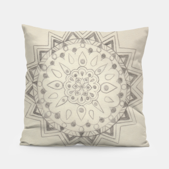 Thumbnail image of Circle Mandala sketch Pillow, Live Heroes