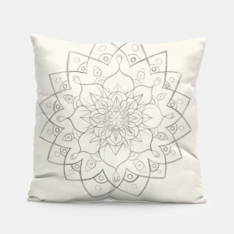 Thumbnail image of Lotus Mandala Pillow, Live Heroes