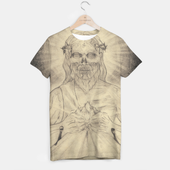 Thumbnail image of Grey Christ Study T-shirt, Live Heroes