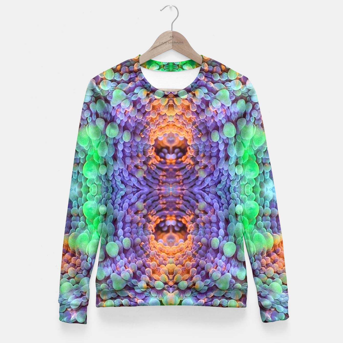Image of Taffy tunnel 1 Fitted Waist Sweater - Live Heroes