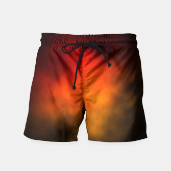 Thumbnail image of Red-Orange Nebula Swim Shorts, Live Heroes