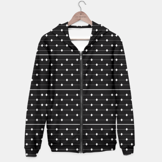 Thumbnail image of White Speckled Diamond Lines Hoodie, Live Heroes