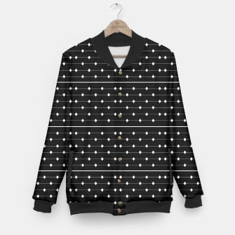 Thumbnail image of White Speckled Diamond Lines Baseball Jacket, Live Heroes