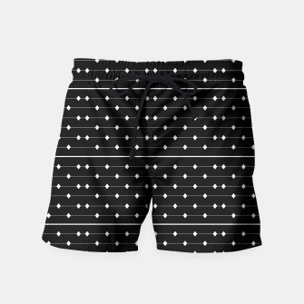 Thumbnail image of White Speckled Diamond Lines Swim Shorts, Live Heroes