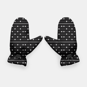 Thumbnail image of White Speckled Diamond Lines Gloves, Live Heroes
