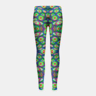 Thumbnail image of Tripp Zoa Cluster Girl's Leggings, Live Heroes