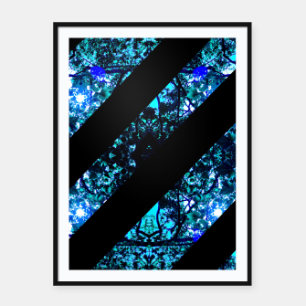 Thumbnail image of Abstract Trees Framed poster, Live Heroes