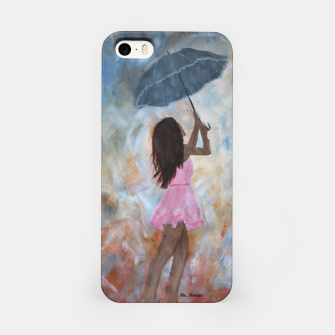 Thumbnail image of Girl with umbrella  iPhone Case, Live Heroes