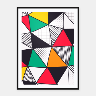 Thumbnail image of Geometrical Life Framed poster, Live Heroes