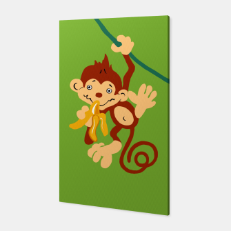 Thumbnail image of little monkey with banana Canvas, Live Heroes