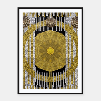 Thumbnail image of Gold and silver is the way to heavenly feelings Framed poster, Live Heroes