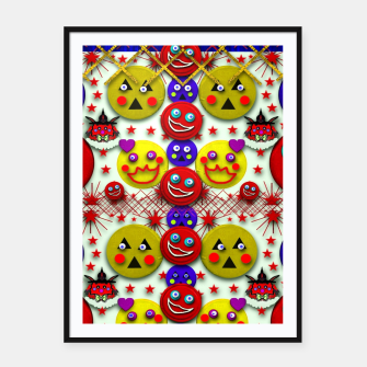 Thumbnail image of Smile and the whole world smiles on Framed poster, Live Heroes