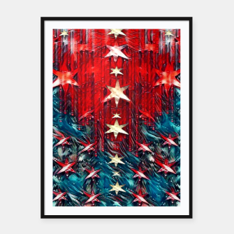 Thumbnail image of Starry night silent night Framed poster, Live Heroes