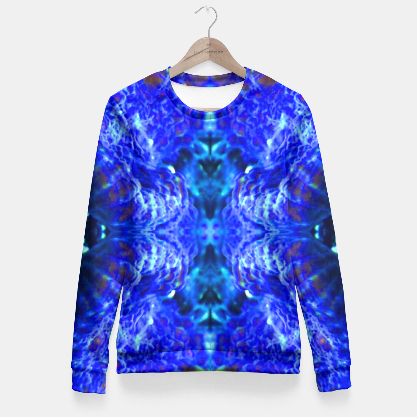 Image of Blue Rorschach 2 Fitted Waist Sweater - Live Heroes