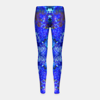 Thumbnail image of Blue Rorschach 2 Girl's Leggings, Live Heroes