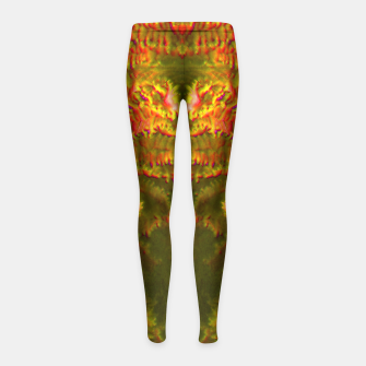 Thumbnail image of Fire tunnel Girl's Leggings, Live Heroes