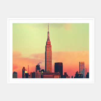 Thumbnail image of NYC Skyline Framed poster, Live Heroes