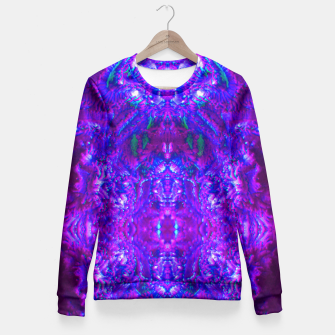Thumbnail image of Fuzzy Purple  Cactus Fitted Waist Sweater, Live Heroes