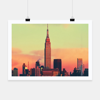 Thumbnail image of NYC Skyline Poster, Live Heroes