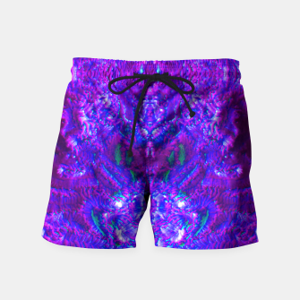 Thumbnail image of Fuzzy Purple  Cactus Swim Shorts, Live Heroes