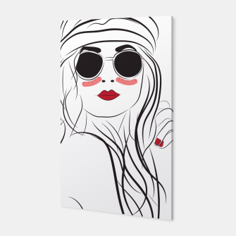 Miniatur Fashion Girl In Boho Style Canvas, Live Heroes