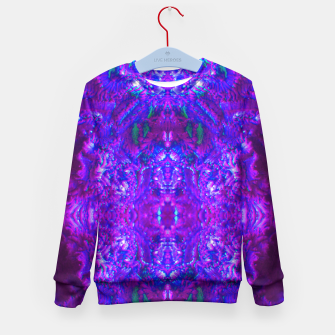 Thumbnail image of Fuzzy Purple  Cactus Kid's Sweater, Live Heroes