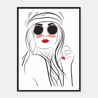 Miniatur Fashion Girl In Boho Style Framed poster, Live Heroes