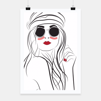Miniatur Fashion Girl In Boho Style Poster, Live Heroes