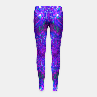 Thumbnail image of Fuzzy Purple  Cactus Girl's Leggings, Live Heroes