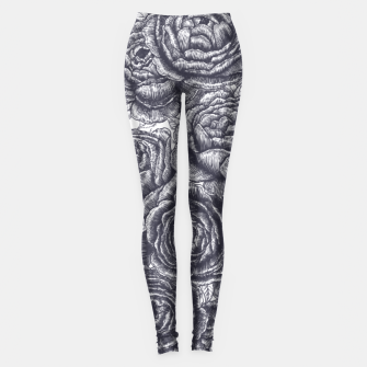 Thumbnail image of Lungs with peonies Leggings, Live Heroes